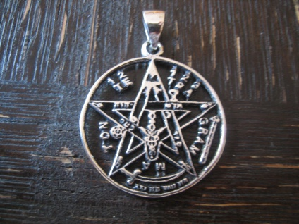 prächtiges Amulett JHWH Tetragrammaton Anhänger 925er Silber neu et Nox 3 cm