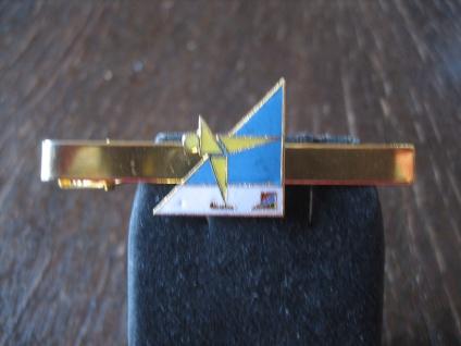 vintage Sport Krawattennadel Krawattenklemme Eiskunstlauf Eislauf Emaille gold