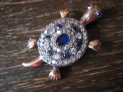 niedlicher Schildkröten Anhänger 925er Silber gold saphir Zirkonia Schildkröte
