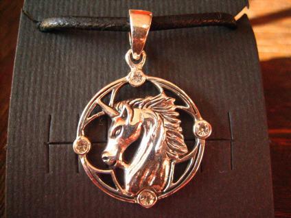 bezaubernder Einhorn Unicorn Anhänger wunderschön gearbeitet 925er Silber neu