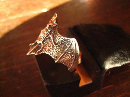 prächtiger großer Fledermaus Ring wunderschön gearbeitet 925er Silber neu et Nox - Vorschau 2