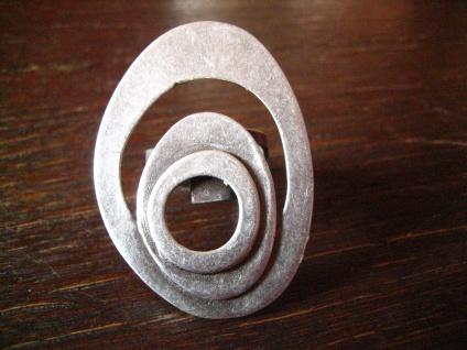 klassischer Statement Ring mit Pfiff Designer Leonardi Arte silber verstellbar - Vorschau 1