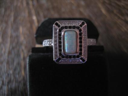 prächtiger Ring im Art Deco Stil 925er Silber Zirkonia wie weißgold opal diamant