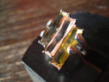 ausgefallener vintage Designer Ring 925er Silber Farbsteine toller Schliff RG 51