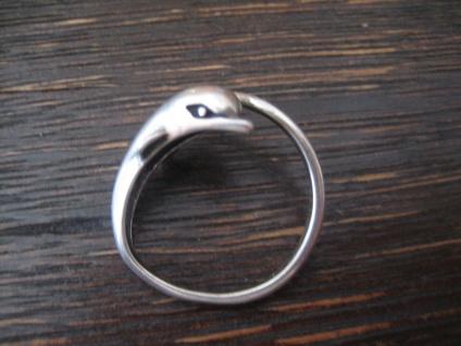 zarter Kinder Ring spielender Delfin Delphin Wal 925er Silber RG 52 16, 5 mm