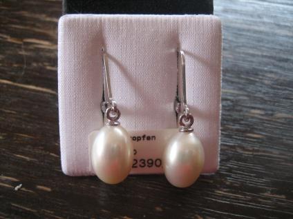 zauberhafte Perlenohrringe Perle Tropfen Ohrringe Hänger Perlen 925er Silber NEU