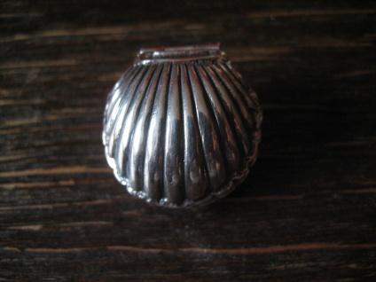 reizvoller maritimer Medallion Anhänger Muschel zum Öffnen Perle 925er Silber - Vorschau 1