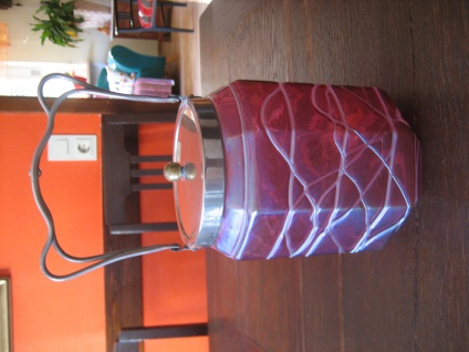Jugendstil Keksdose rosa irisierend aufgelegte Glasfäden Pallme-König & Habel