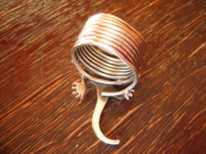 prächtiger Ring Eidechse Salamander Echse Gegko 925er Silber plastisch RG 52 - Vorschau 4