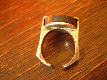 exklusiver vintage Designer Ring 835er Silber schimmerndes Tigerauge RG 55 - Vorschau 3