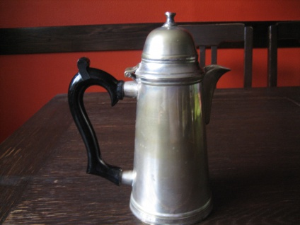 schnuckelige kleine Mokkakanne Silberkanne Kanne Hot Water Pot silber pl Shabby