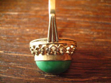 herrlicher antiker Türkisring Ring Türkis 333er Gold wunderschön verziert - Vorschau 4