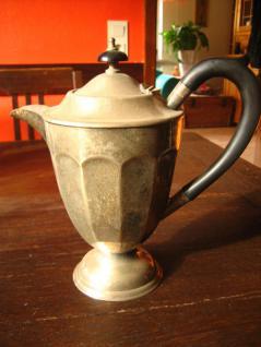 Formschöne Karaffe Silberkanne Kakaokanne aus England silber pl Shabby Chic