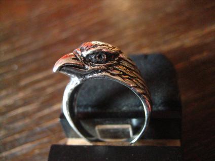 edler Adler Adlerkopf Raubvogel Raubvogelkopf Ring 925er Silber neu et Nox RG 62