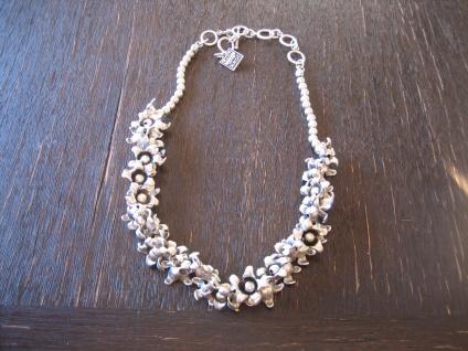 romantisches Statement Collier Kette Designer Leonardi Arte silber Glockenblumen