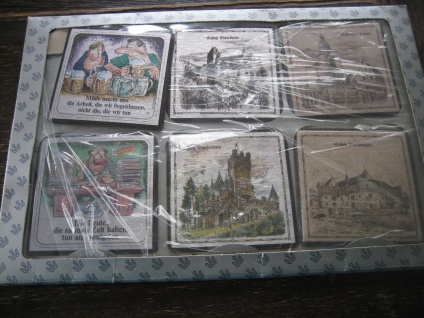 6 Untersetzter Glasuntersetzter Messinggravur teils coloriert Burg Schloss