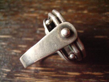 prächtiger Art Deco Designer Ring Malachit strahlend grün 835er Silber RG 58 - Vorschau 3