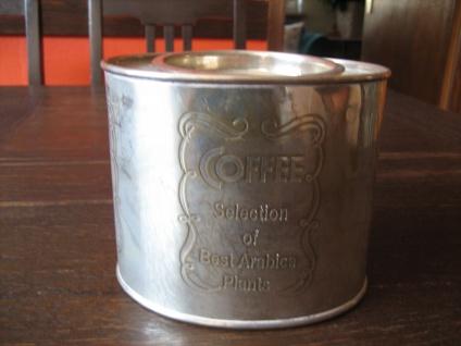 dekorative Vintage Dose Kaffeedose ideale Teedose Tea Caddy versilbert England