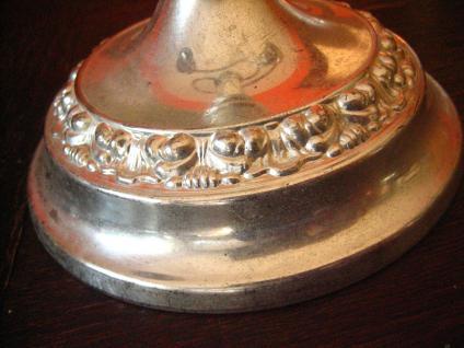 hoher Kerzenständer Kerzenhalter Leuchter Kandelaber silber pl 3-arm 3armig - Vorschau 3