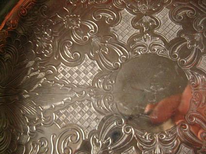 edel verzierte Schale Anbietschale Schale Brotkorb Obstschale silber p Sheffield - Vorschau 4