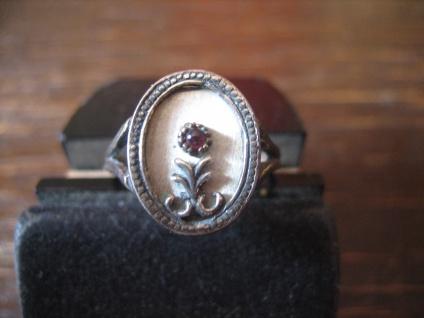 bezaubernder Jugendstil Ring Rose Rosenring ungewöhnliche Arbeit 800er Silber