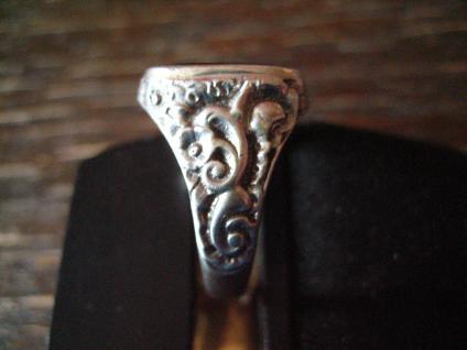klassischer Art Deco Herrenring Siegelring 835er Silber Onyx Ring 18, 75 mm RG 59 - Vorschau 3