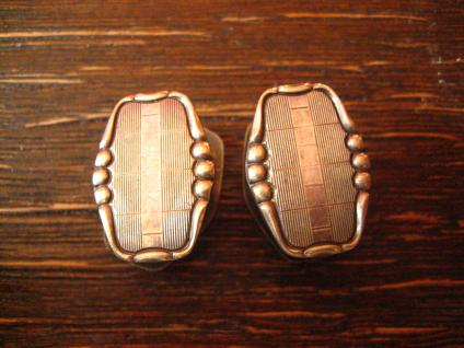 klassisch elegante Art Deco Manschettenknöpfe Wechselknöpfe Schmuckknöpfe silber