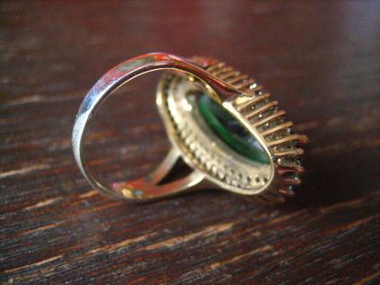 Kronjuwelen gesucht ? atemberaubender turmalin Zirkonia Ring 925er Silber gold - Vorschau 4