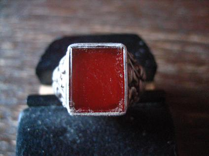 klassischer feiner Art Deco Ring Siegelring Carneol 835er Silber 17, 25 mm RG 55
