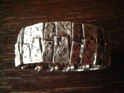 origineller Statement Armreif Armband 2, 5 cm Designer Leonardi Arte alt - silber