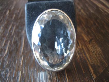 prächtiger Statement Ring riesiger Bergkristall 925er Silber NEU Unikat