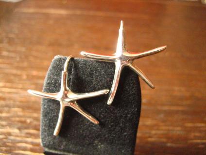 geschmackvolle maritime Seestern Ohrringe Hänger 925er Silber neu Piratenbraut