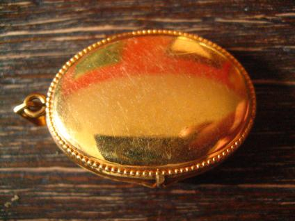 bezaubernder Jugendstil Medallion Anhänger Rose gold Double in Feingold Farbe - Vorschau 4