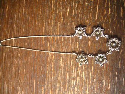 bezauberndes Jugendstil Collier filigrane Blüten Blumen 800er Silber Dirndl - Vorschau 2