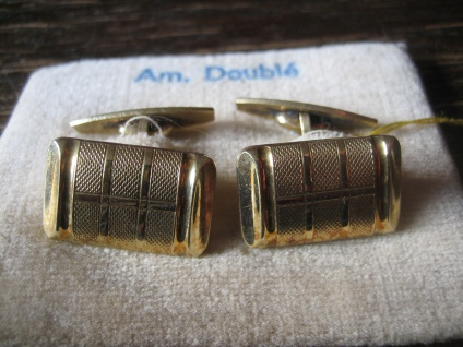 geschmackvolle wunderschön verzierte Art Deco Manschettenknöpfe Gold Doublé