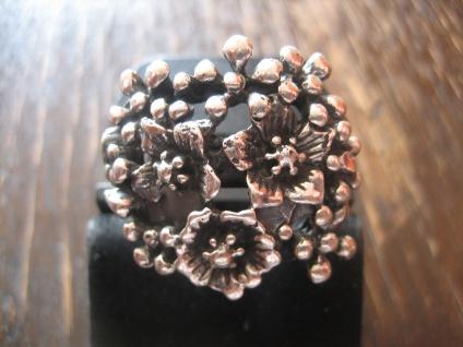 opulenter moderner Statement Designer Ring Blumenmeer 925er Silber NEU RG 61