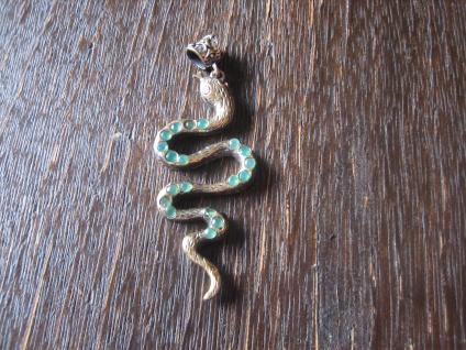 Kronjuwelen gesucht ? prächtiger Schlangen Anhänger Schlange 925er Silber gold
