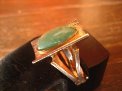 Exklusiver Vintage Designer Ring 935er Silber Chrysopras ausgefallen RG 52 - Vorschau 1