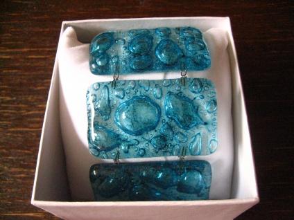 elegantes breites Armband 5 cm türkis NEU Kunsthandwerk Arts & Crafts Unikat - Vorschau 2