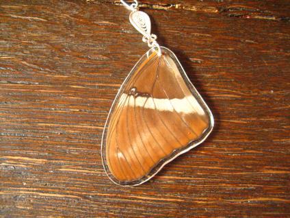 Schatz der Natur Anhänger Schmetterlingsflügel E 925er Silber Kette Eco Friendly - Vorschau 2