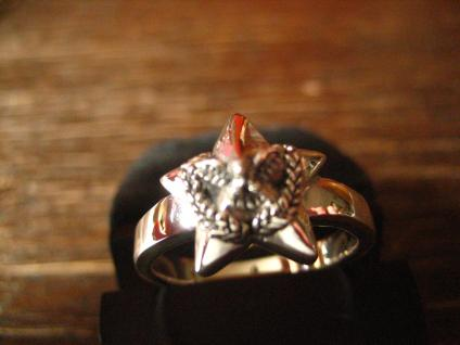 maritimer Herrenring Ring Nautical Star 925er Silber neu et Nox 20, 3 mm RG 64 - Vorschau 3