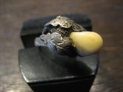 antiker Grandl Grandel Grandlring Grandln Ring 800er Silber Trachten Eichenlaub