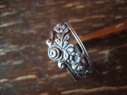 Bandring Ring romantisches Rosen Dekor Christoph Widmann 835er Silber RG 62