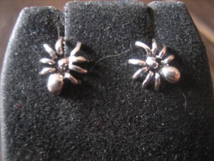 witzige Gothic Ohrringe Stecker Ohrstecker Spinne 925er Silber neu