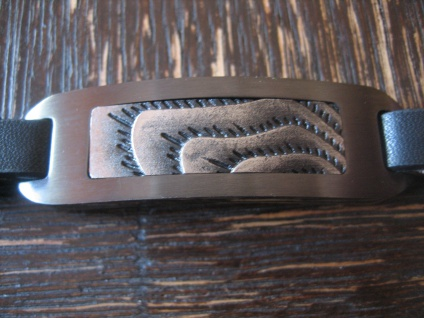exklusives Herrenarmband Armband Desert et Nox 21 cm lang Leder Edelstahl