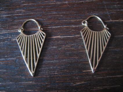 edle Statement Ohrring Designer Leonardi Arte gold Saadia Collection Dreieck B