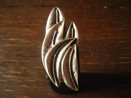floraler Designer Statement Ring Palmblätter Leonardi Arte silber alle Größen