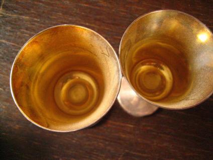 Candellight Dinner for Two 2 Stück Paar edle Silberkelche Likör Kelche silber - Vorschau 3