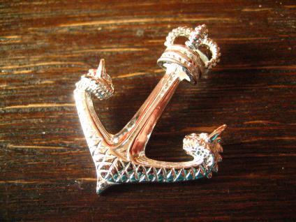 großer maritimer Anhänger Anker mit Krone Drachen Köpfe Pirat 925er Silber neu - Vorschau 2