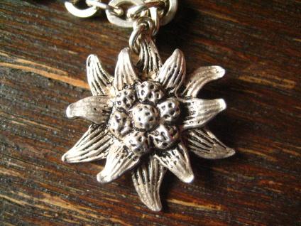 winziger antiker Anhänger Bettelarmband Charm Edelweiß Edelweis 800er Silber